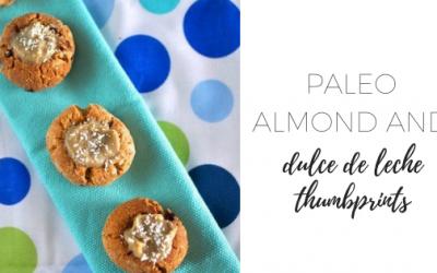 Paleo almond and dulce de leche thumbprints