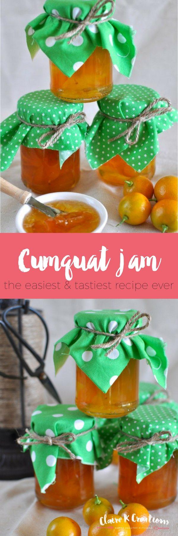 Cumquat jam via www.clairekcreations.com