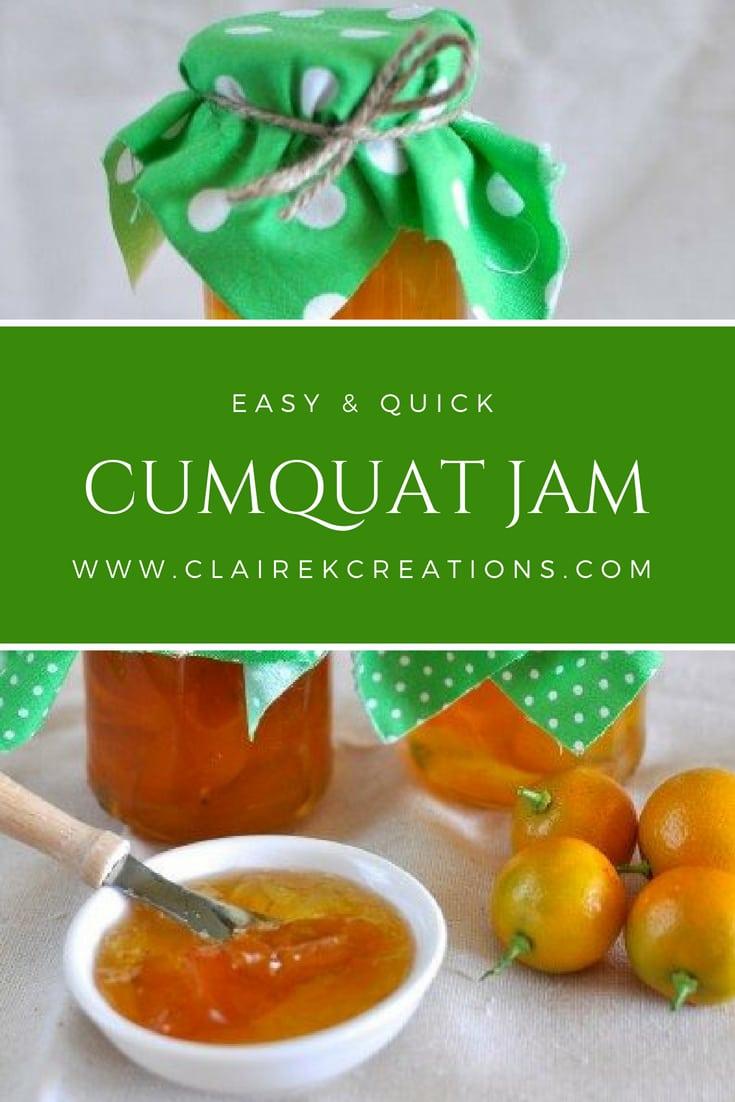 Easiest ever cumquat jam recipe via www.clairekcreations.com
