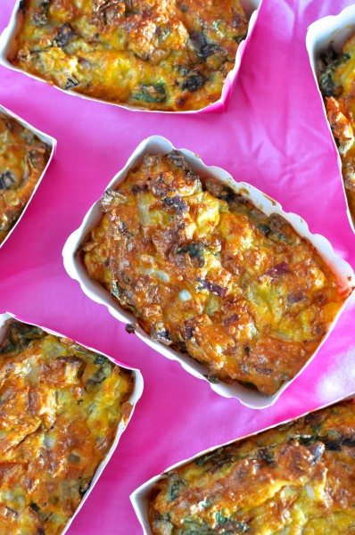 ham and vegetable mini frittatas via www.clairekcreations.com