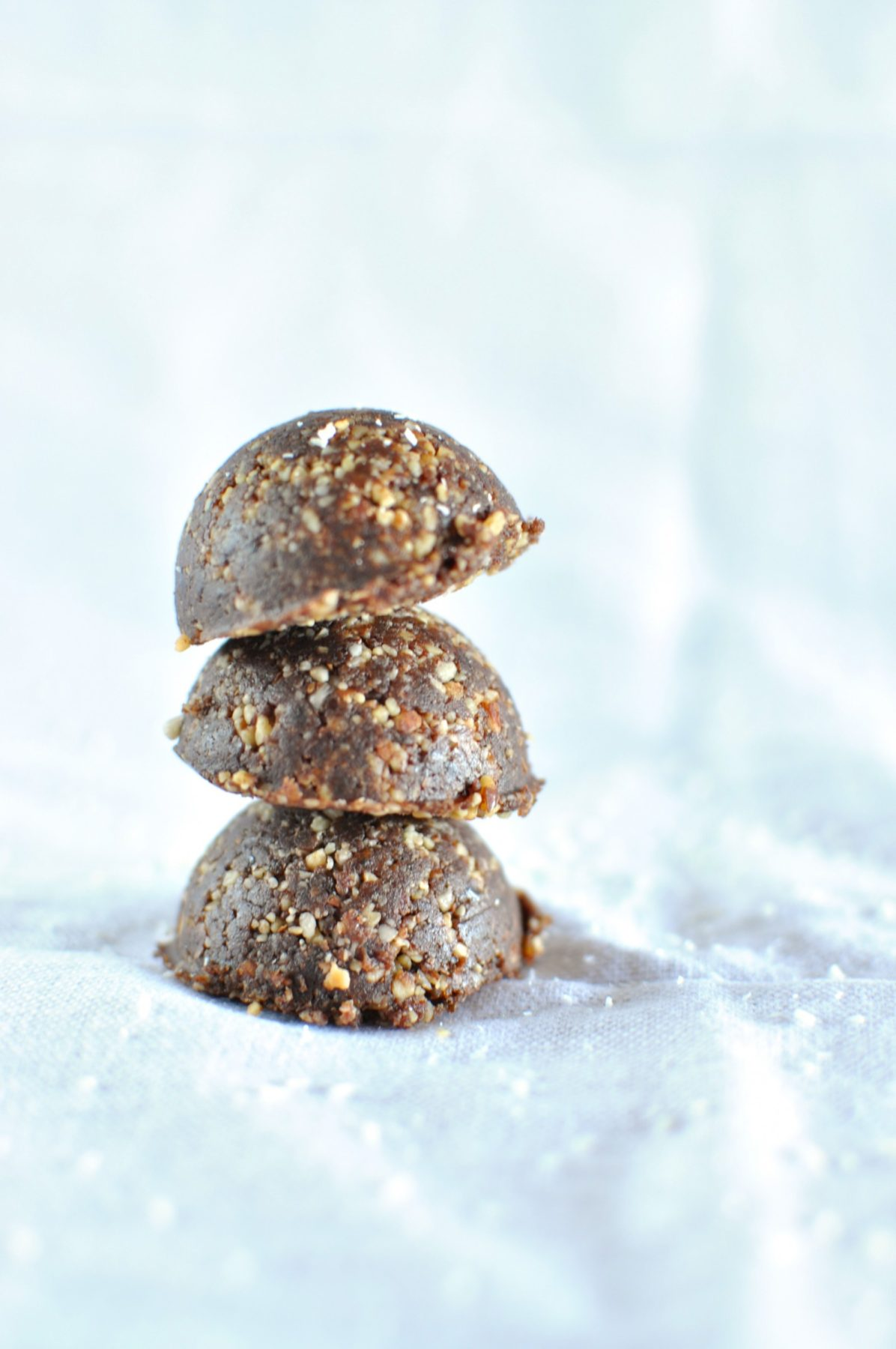 Choc ginger nut and seed balls