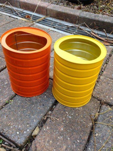 How to make a herb garden from formula tins via www.clairekcreations.com