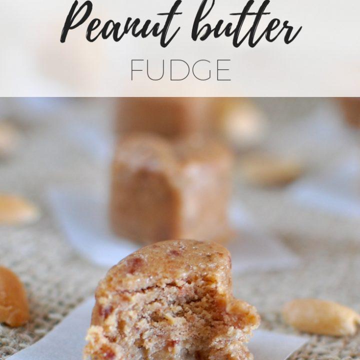 Raw peanut butter fudge via www.clairekcreatkons.com