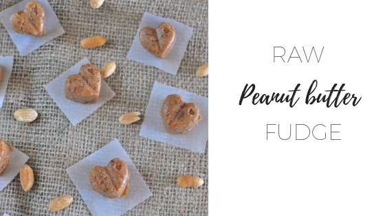 Raw peanut butter fudge