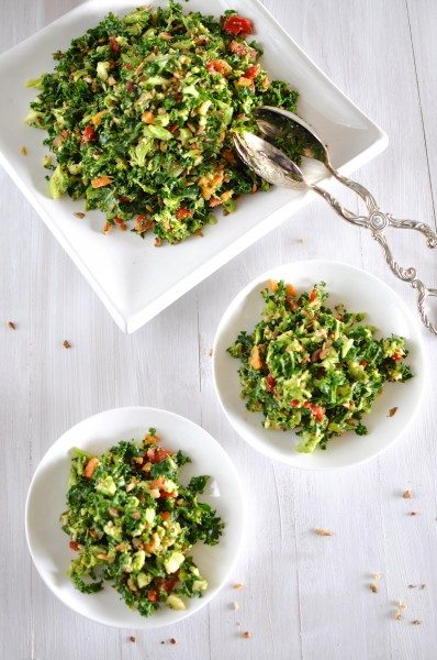 Fresh vegetable chopped salad