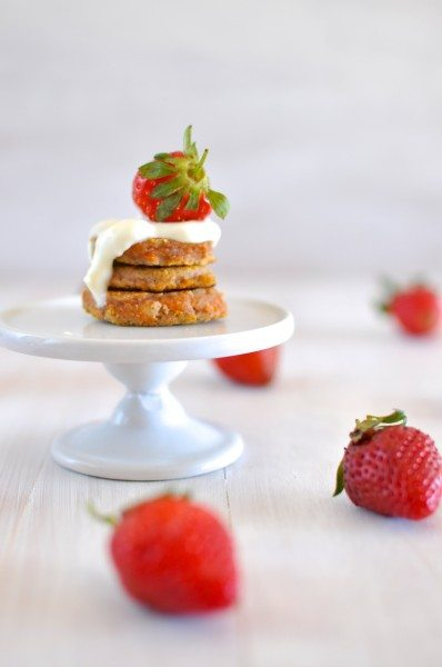 Gluten free carrot cake pikelets