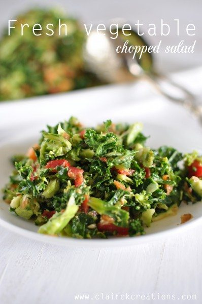 Fresh vegetable chopped salad
