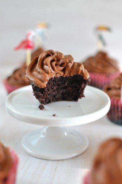 Gluten, dairy, nut free chocolate cupcakes via www.clairekcreations.com