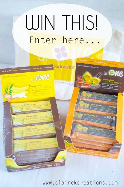Win two boxes of At One raw superbars