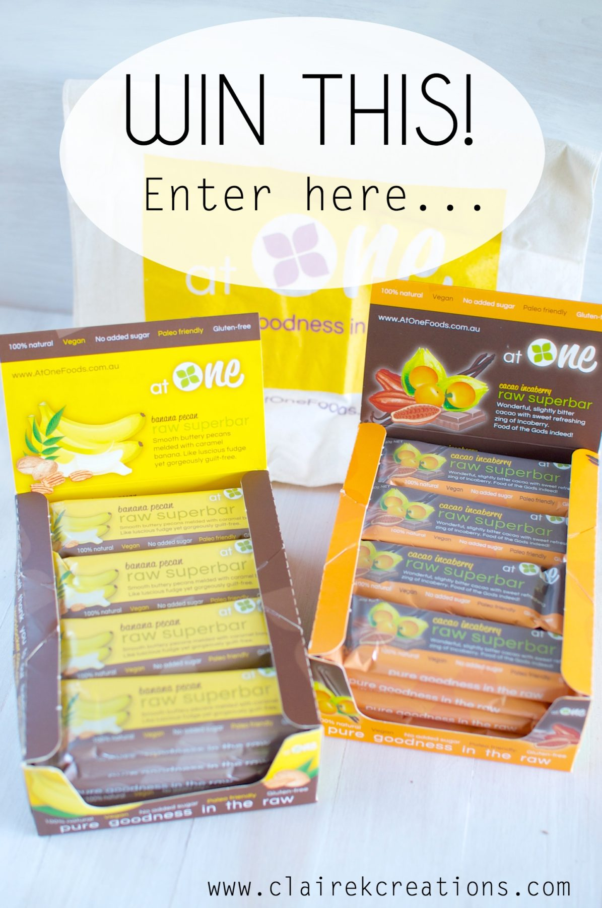 Delicous, healthy, raw snack bars and a competition