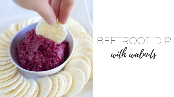 Beetroot dip with walnuts