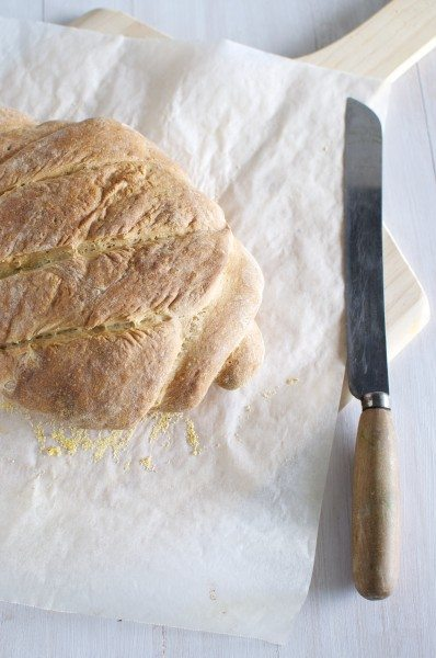 Crusty Italian bread via www.clairekcreations.com