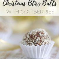 Nut free Christmas bliss balls