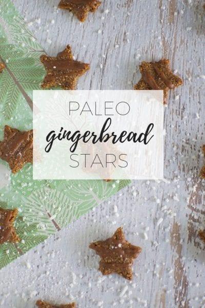 Paleo gingerbread stars