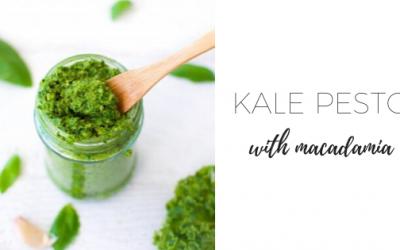 Kale pesto with macadamia