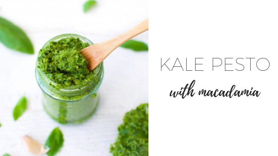 Kale pesto with macadamia