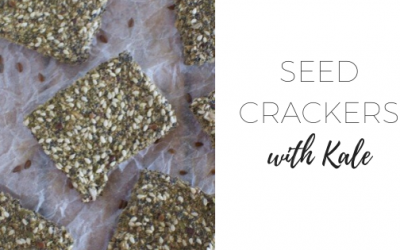 Seed crackers with kale