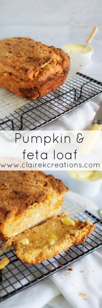 Pumpkin and feta loaf via www.clairekcreations.com