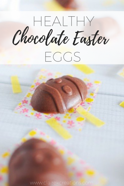Easy to make healthy chocolate Easter Eggs