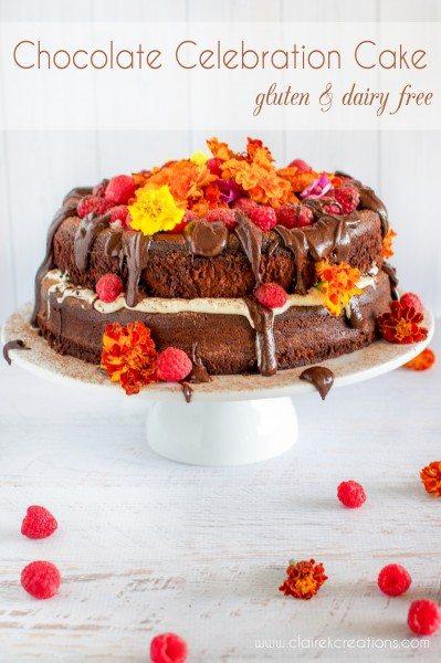 Flourless dairy free cacao cake via www.clairekcreations.com