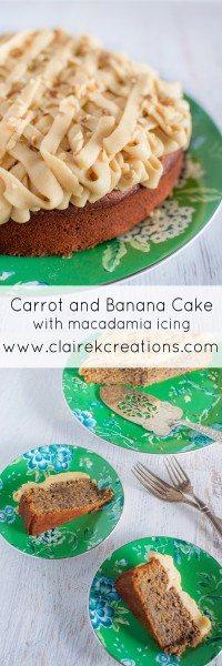 Carrot and banana cake via www.clairekcreations.com
