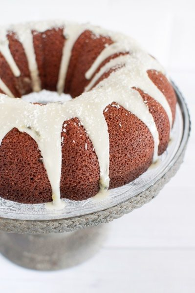 Coconut and passionfruit pound cake via www.clairekcreations.com