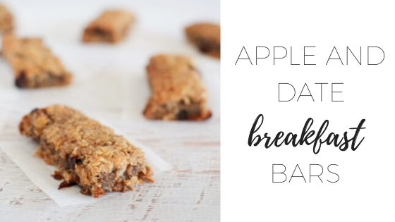 Apple and date breakfast bars