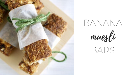 Banana muesli bars