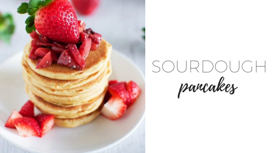 Sourdough pancakes (refined sugar free)