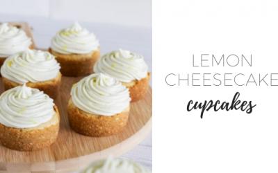 Lemon cheesecake cupcakes with lemon curd