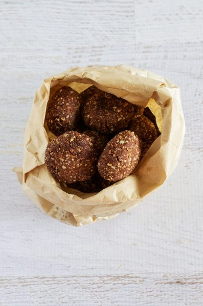 Choc nut biscuits (gluten, sugar, egg & dairy free) via www.clairekcreations.com