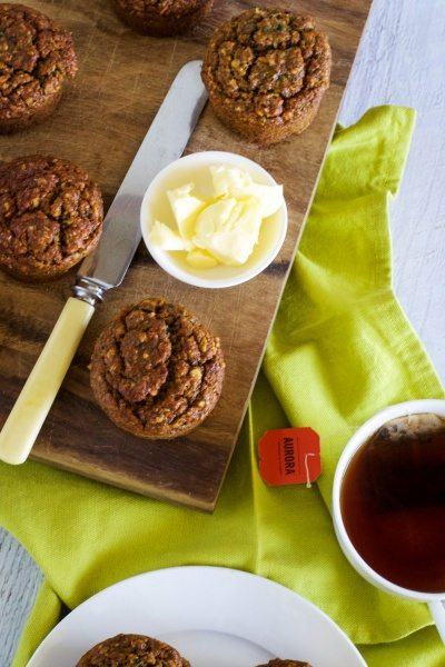 Carrot, apple and banana muffins via www.clairekcreations.com