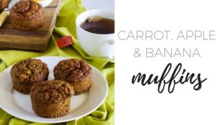 Carrot apple and banana muffins