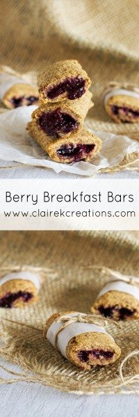 Berry breakfast bars via www.clairekcreations.com