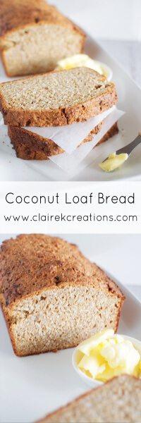 Coconut bread via www.clairekcreations.com
