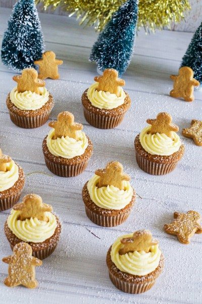 Gingerbread cupcakes via www.clairekcreations.com