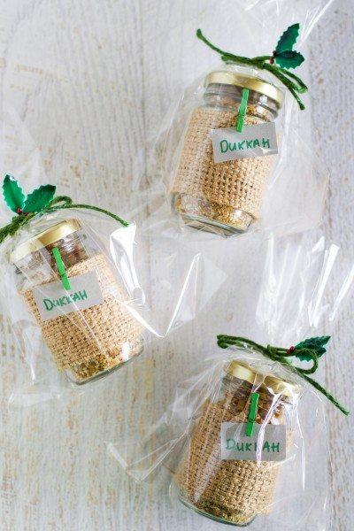 Homemade macadami dukkah christmas gift