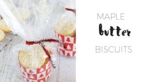 Maple butter biscuits via www.clairekcreations.com