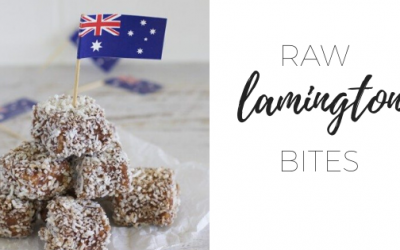 Raw lamington bites