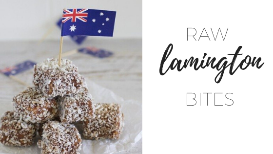 Raw lamington bites