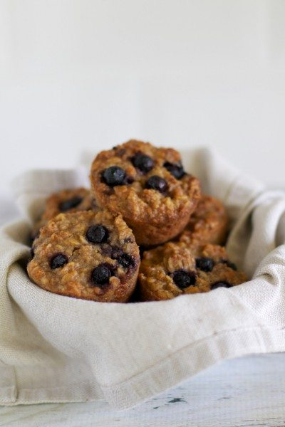 Blueberry oat muffins via www.clairekcreations.com