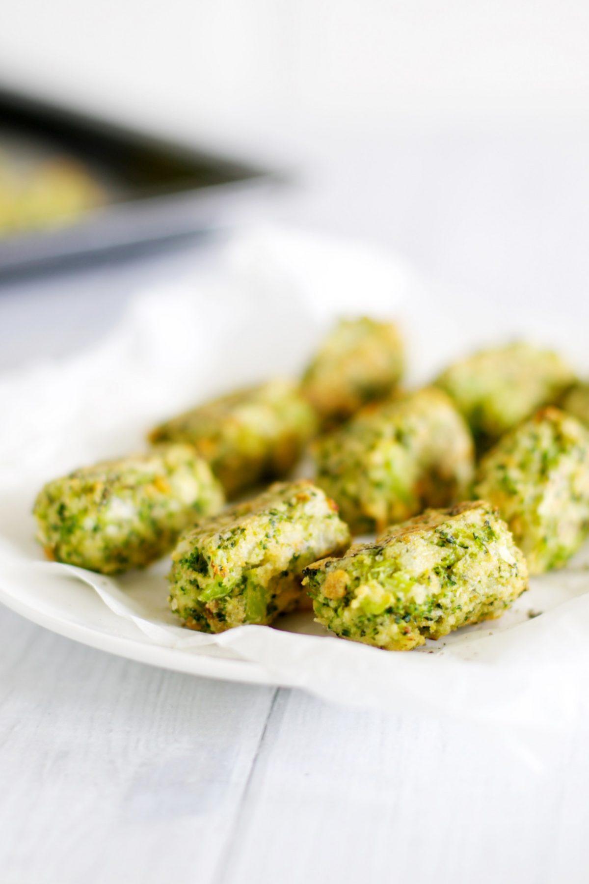 Broccoli tots (with cheddar)