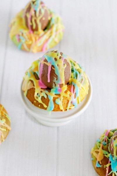 Rainbow Graffiti Easter Donuts via www.clairekcreations.com - colourful Easter desert