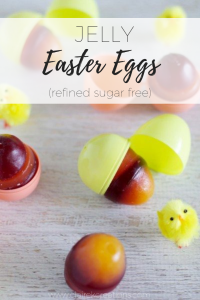 Jelly Easter Eggs (refined sugar free)