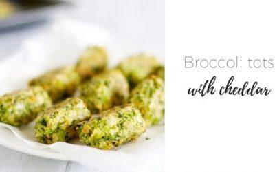 Broccoli tots with cheddar