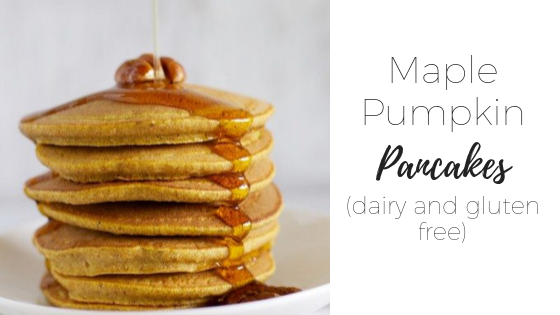 Gluten free maple pumpkin pancakes