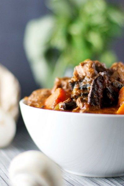 Beef, red wine and mushroom casserole via www.clairekcreations.com