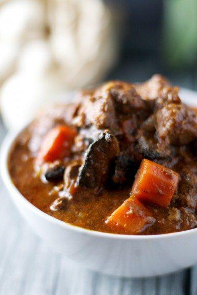 beef, red wine and mushroom casserole