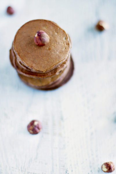 Nutella Pancakes via www.clairekcreations.com