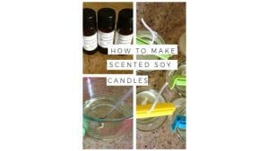 How to make scented soy candles via www.clairekcreations.com